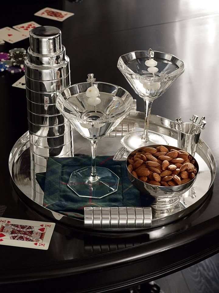 SOPHISTICATED BAR ACCESSORIES   From Ralph Lauren Home, Apartment No. One