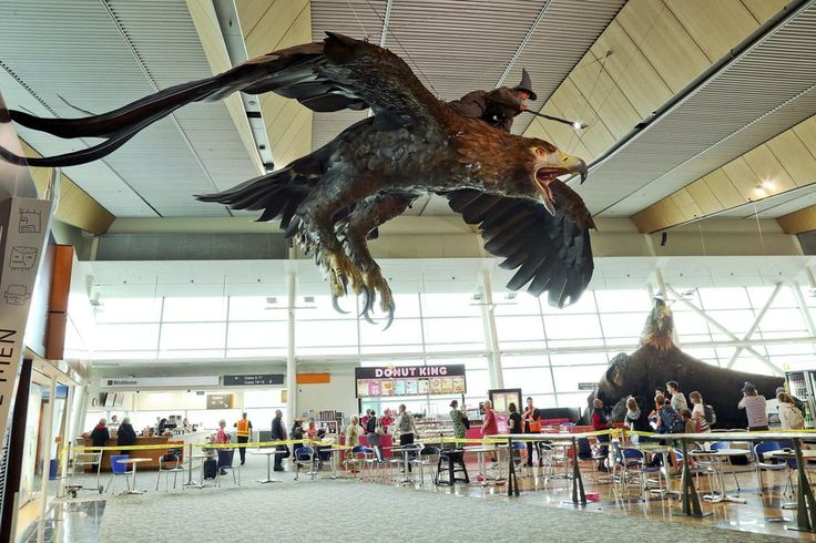 Giant eagle from the Hobbit in a New Zealand airport