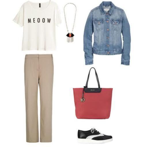 Trousers Mango Jacket, top HM Necklace TopShop Shoes, bag Kazar