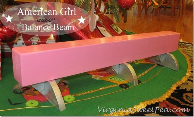 American Girl Knock-Off Balance Beam Crafted by Sweet Pea
