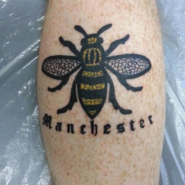 The Worker Honey Bee Tattoo. People have been getting bee tattoos to honor the victims of the devastating Manchester Arena bombing.