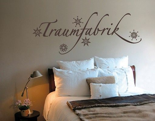 Wandtattoo Sprüche - Wandworte No.SF468 #Traumfabrik #schlafzimmer #ideen #schlafen #träumen #ruhe #schlaf #Traum #Traumland #dream