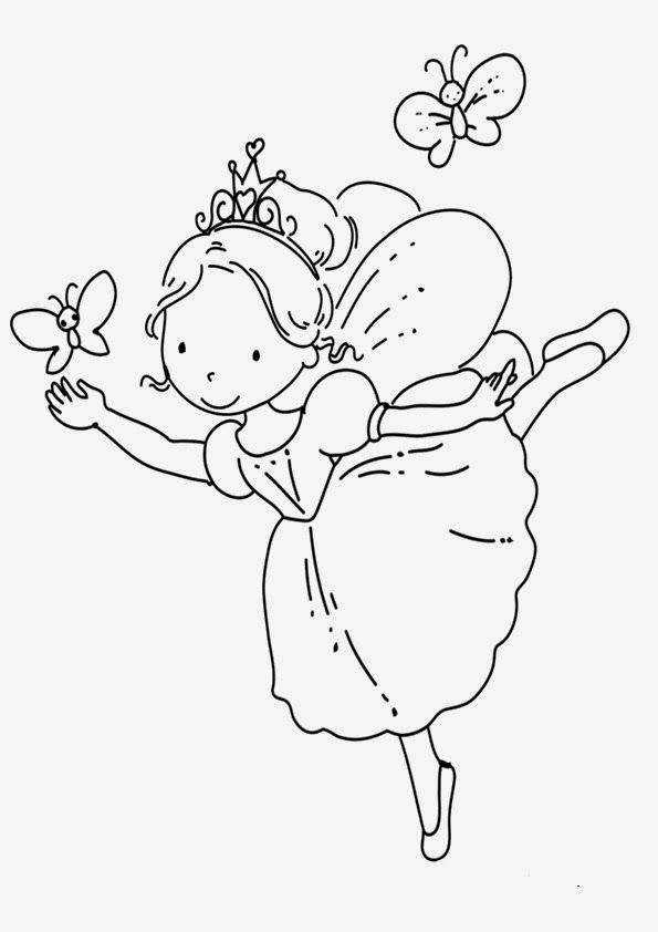 93 Ballerina Fairy Coloring Page