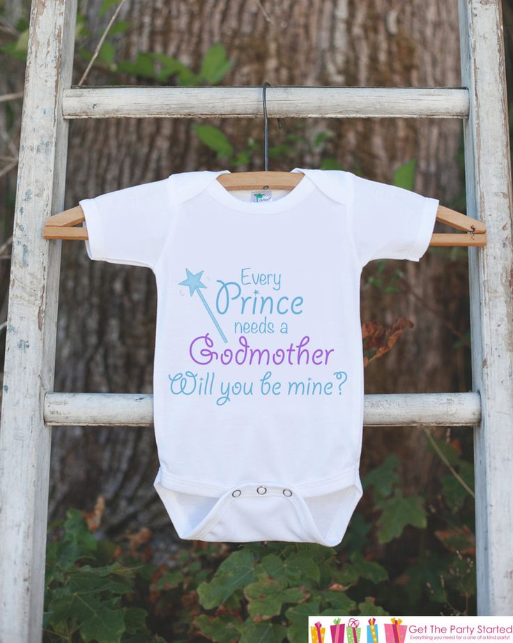 17 best godmother request ideas images on pinterest godparent will you be my godmother outfit infant baby boy bodysuit every prince needs a negle Image collections
