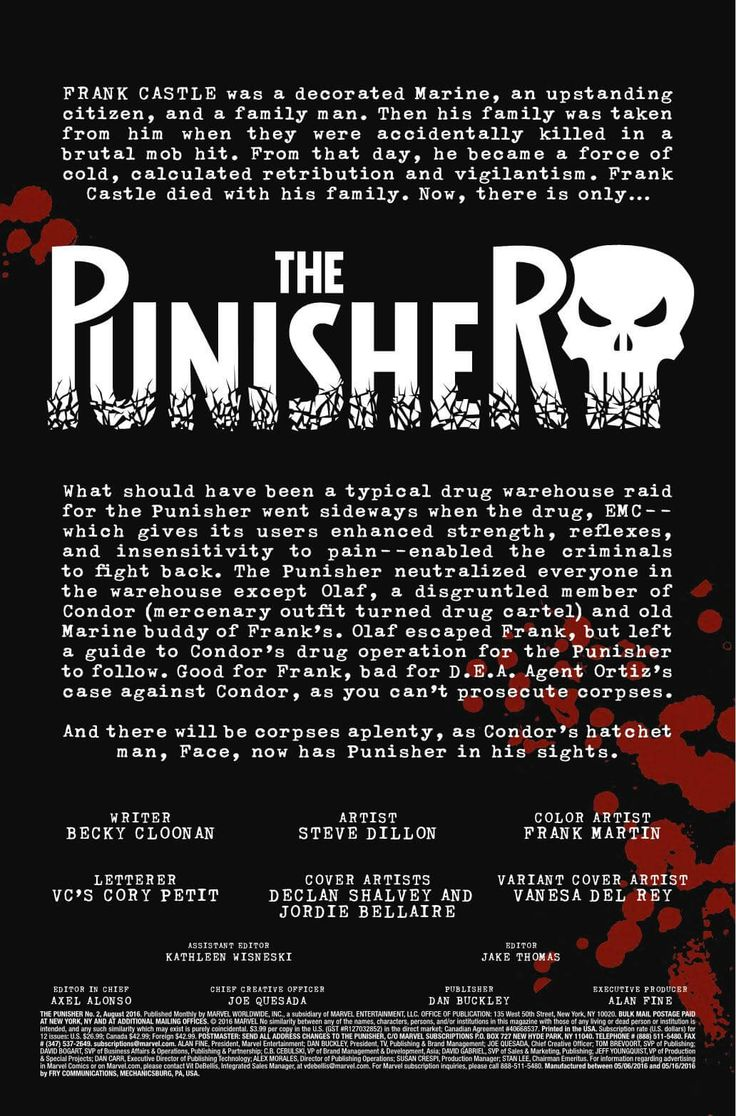 Preview: The Punisher #2, Story: Becky Cloonan Art: Steve Dillon Cover: Declan Shalvey Publisher: Marvel Publication Date: June 1st, 2016 Price: $3.99     ROAD TR...,  #All-Comic #All-ComicPreviews #BeckyCloonan #Comics #DeclanShalvey #Marvel #previews #SteveDillon #ThePunisher