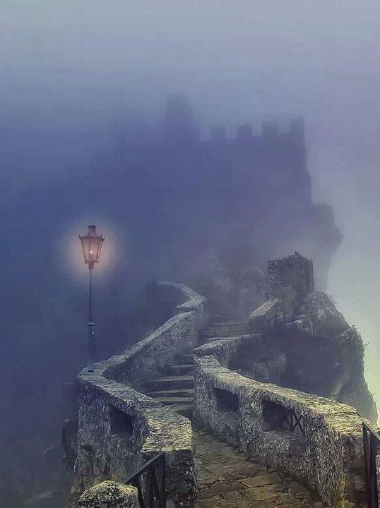 Dark Castle, San Marino, Italy.