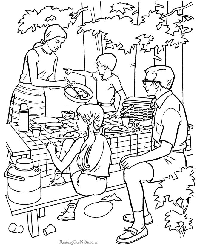 73 best images about Camping Coloring Pages on Pinterest