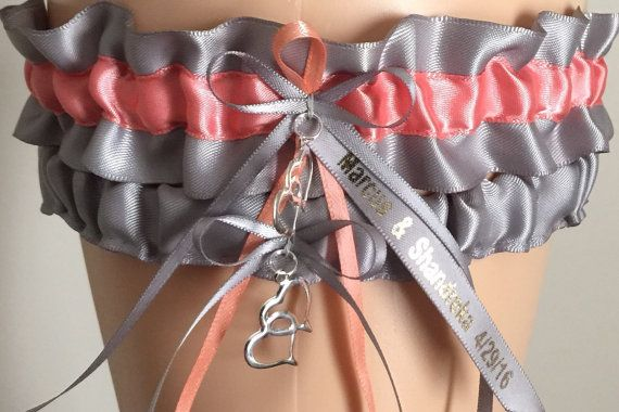 Personalized Wedding Garter Bridal Garter Sets by JustFunGarters