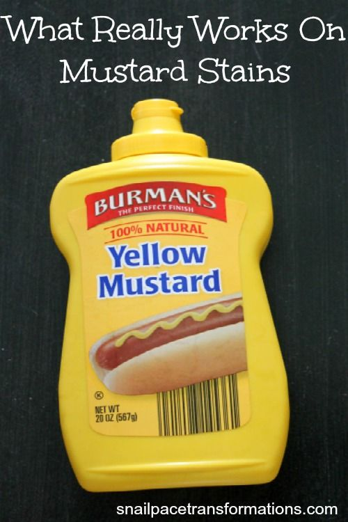 This post talks about all the mustard stain removal tips out there and what REALLY WORKS to get mustard out!