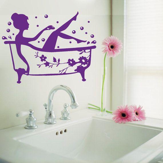 bathroom vinyl wall decal person name nursery kidsboygirl room stickers