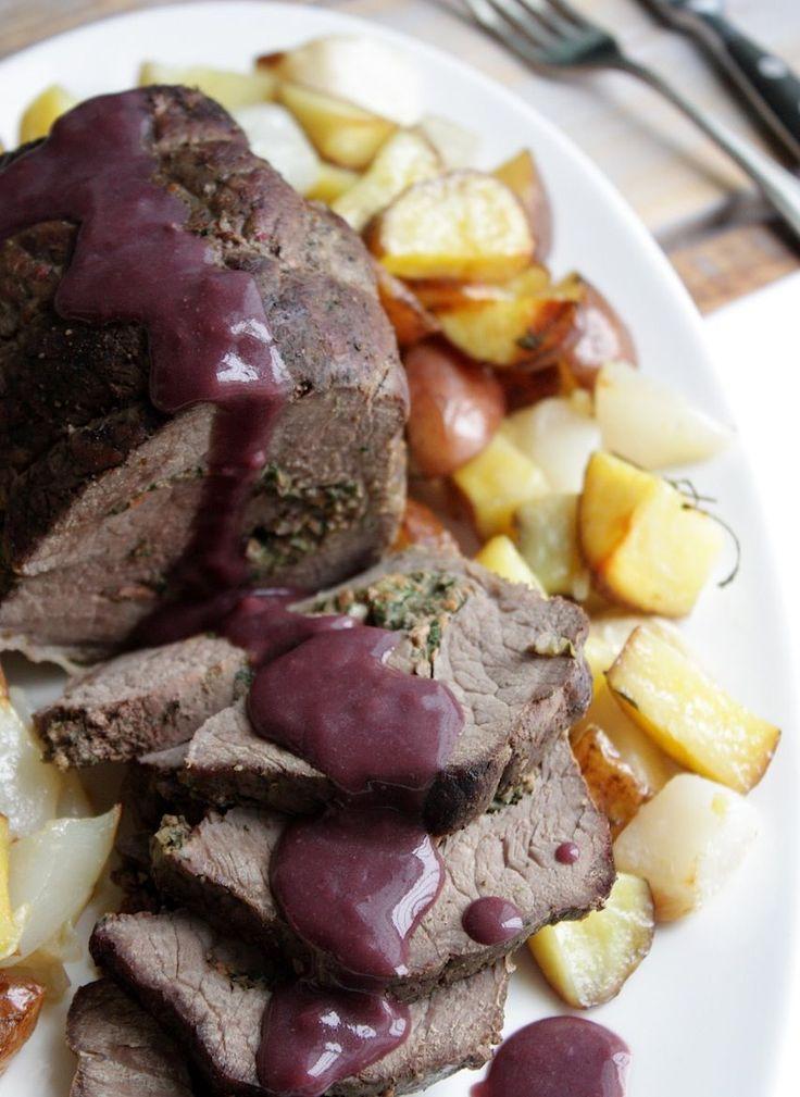Gevulde runderrollade met rode wijn truffelsaus_2