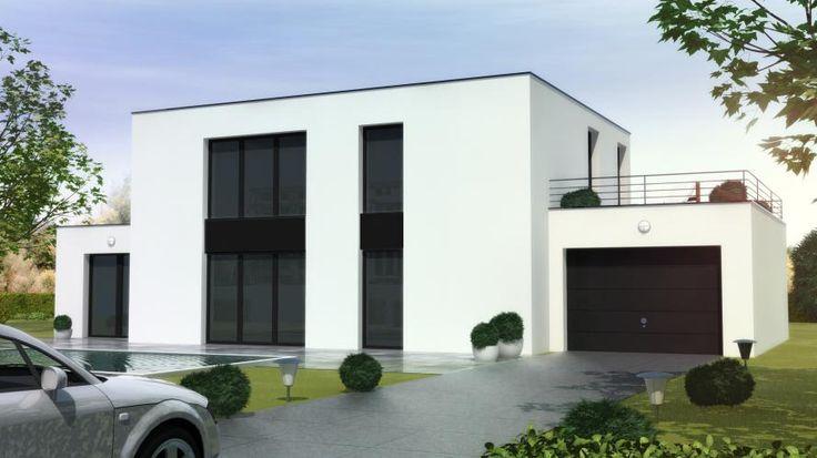 Maison contemporaine cubique house cube pinterest for Maison moderne cube