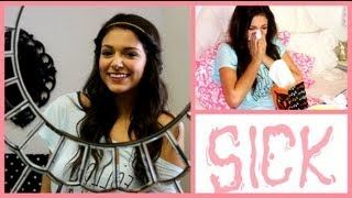 Sick/Lazy Days Hair, Makeup & Outfit! + My sick day essentials - YouTube