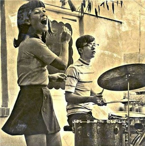 A young Dennis Hopper on drums
