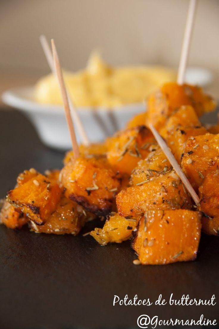 Gourmandine: Potatoes de courge butternut