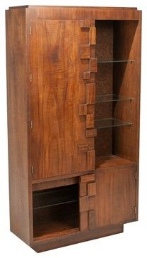 consigned mid century modern brutalist cabinet by lane