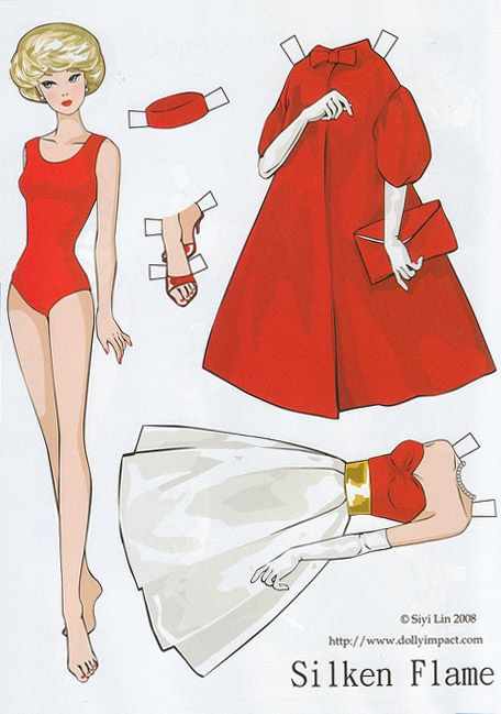 """Repro: Barbie Paper Dolls: """"Silken Flame"""" by Siyi Lin"""