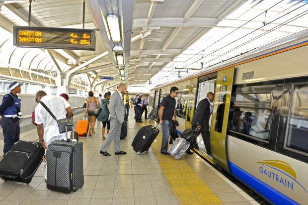 The Gautrain Station in Pretoria, Gauteng. Getting around