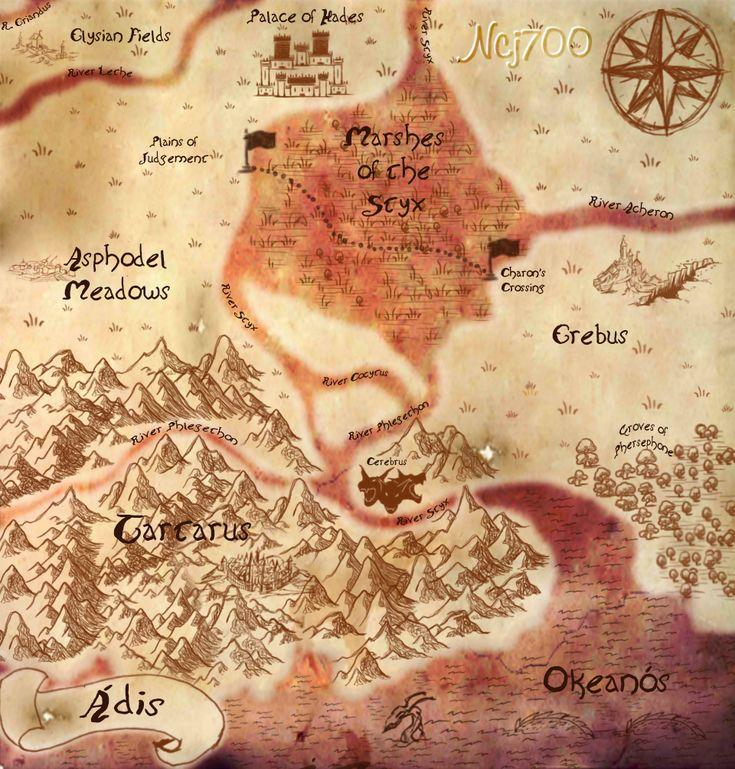 Map of Hades / Greek Mythology