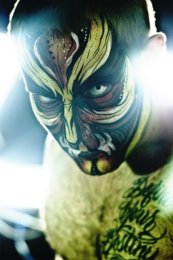 jamie graden face painting, jamie janett graden, paint on your face, los angeles face painter, monster face, scary face painting