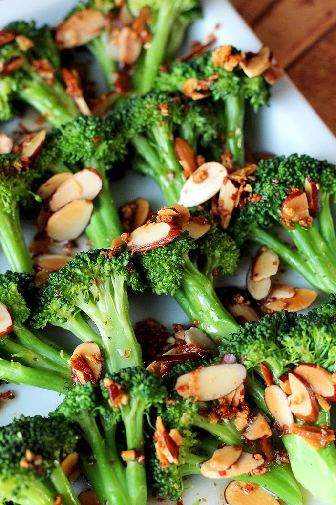 Broccoli Almondine - ilovevegan.com
