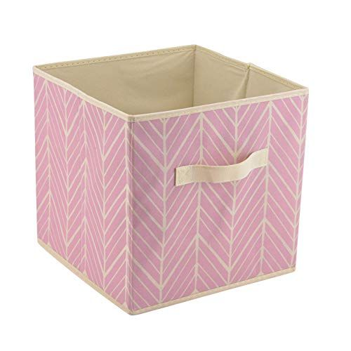Foldable Storage Cube Basket Bin Pink Cube Storage Decorative