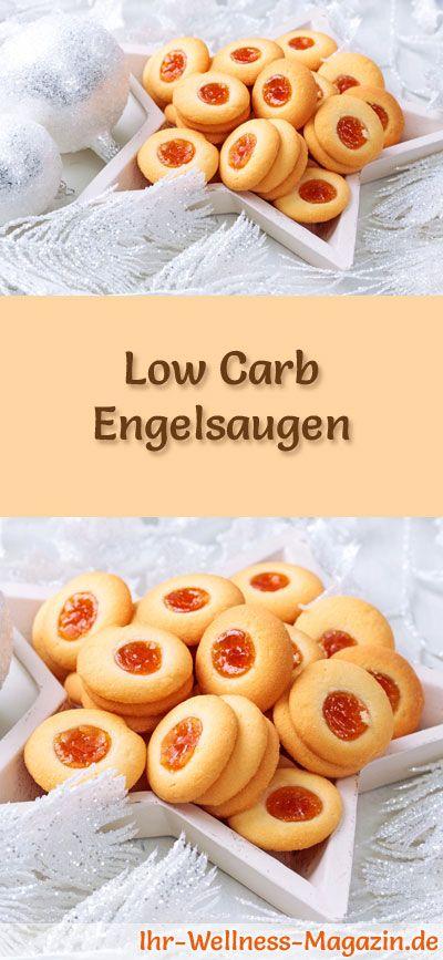 Low-Carb-Weihnachtsgebäck-Rezept für Engelsaugen: Kohlenhydratarme, kalorienreduzierte Weihnachtskekse - ohne Getreidemehl und Zucker gebacken ... #lowcarb #backen #weihnachten