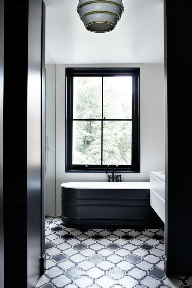 At Home  A glamorous London townhouseThe 25  best Black white bathrooms ideas on Pinterest   Classic  . Black And White Bathrooms Images. Home Design Ideas