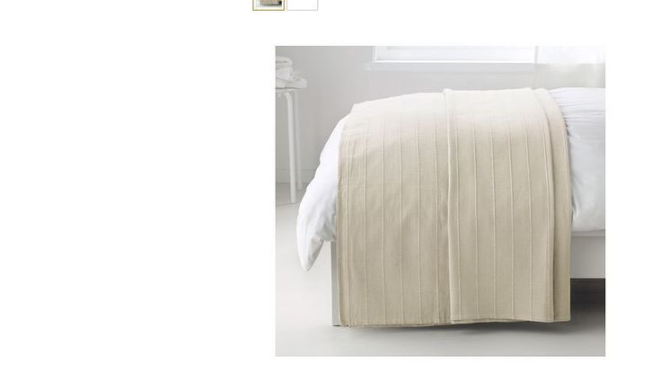 You are bidding forBrand NewIkea Throw Rug Bedspread blanket Beige250X250CM FABRINA  Assembled size Length: 250 cm Width: 250 cm  Care instructions Machine wash, warm 40°C. Do not bleach. Do no…