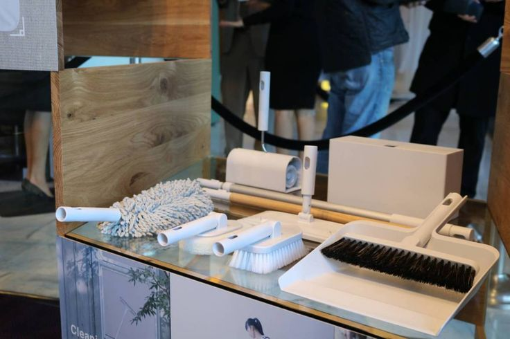Sadly, these cleaning items by MUJI only serve as props at the pop-up. | LUCY LAU | Georgia Straight Vancouver's News & Entertainment Weekly