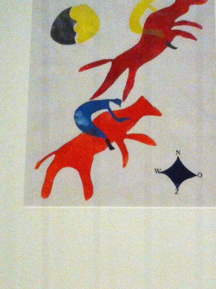 Hot Printing 1 1933-1935, (renpaarden), H.N. Werkman, Groninger Museum