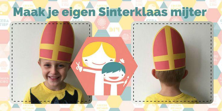 Met deze gratis download van een sinterklaas mijter, heb je in een hand omdraai je eigen mijter gemaakt. Een super leuk knutsel idee voor Sinterklaas.