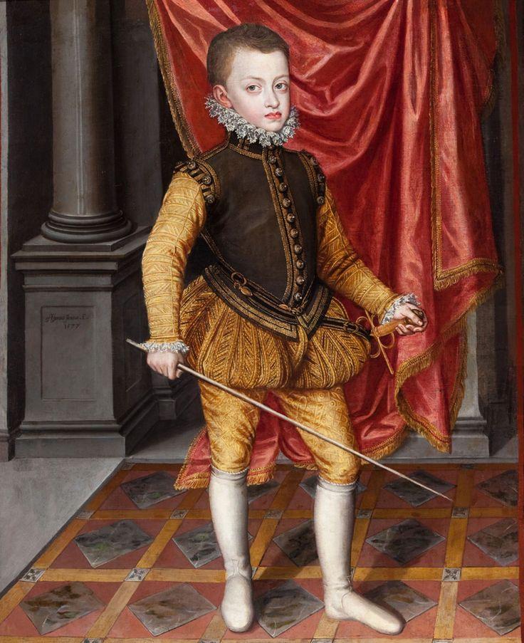 Alonso Sánchez Coello - Infante don Fernando de Austria (1577) [with the Hapsburg jaw, apparently]