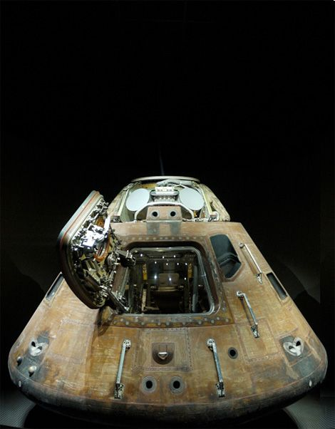 Apollo One capsule***NOT Apollo 1. That Spacecraft was disassembled as in storage at a warehouse at the Langley Research Center, Langley AFB, Hampton VA. This is an Apollo CM that flew successfully, but I don't know which Mission.