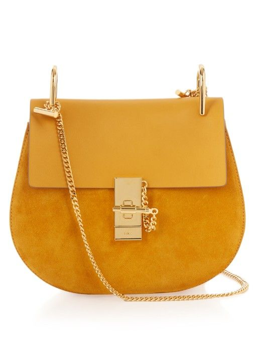 Chlo¨¦\u0026#39;s signature Drew bag is updated for spring in rich, mustard ...