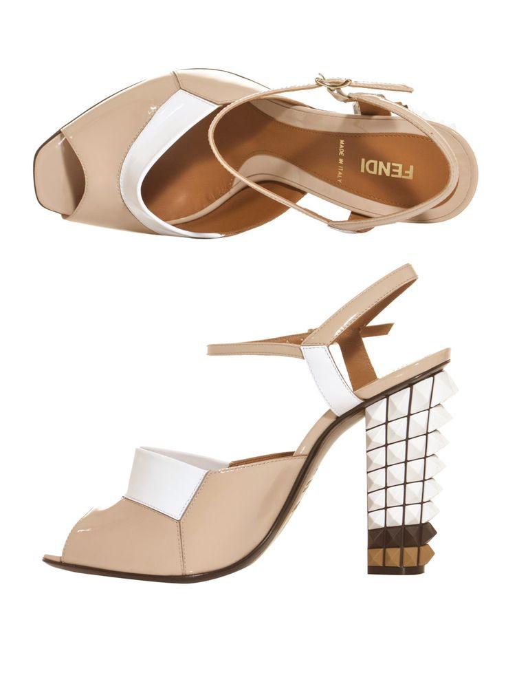 Fendi Polifonia studded heel sandals