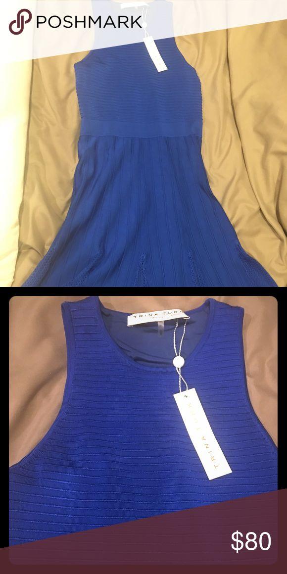 trina turk dress Xs trina turk blue dress Trina Turk Dresses Midi
