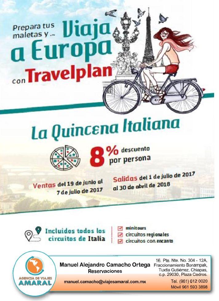 Conoce el hermoso país de Italia con esta gran promoción. #italia