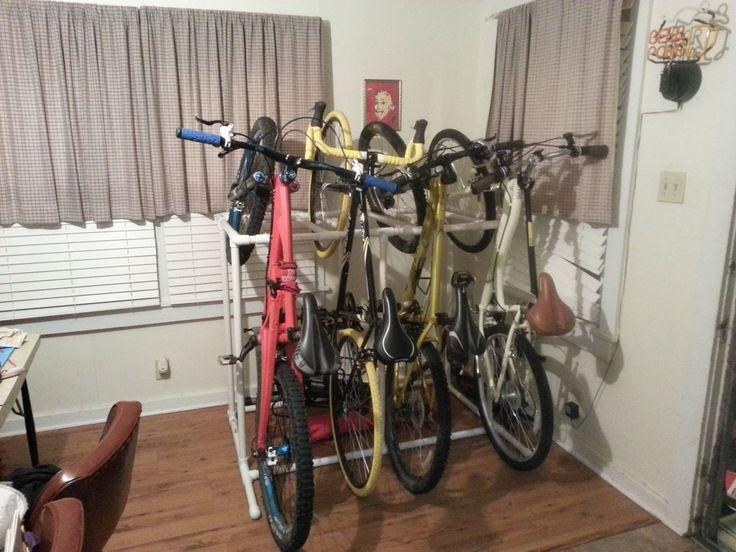 PVC bike storage rack - great design, great idea