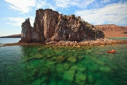 Shhhh... Keep it a Secret: Mexico's Undiscovered Beach Towns. Kayaking in La Paz, Baja California Sur.