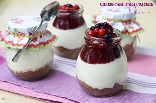Cheesecake fara coacere (la borcan)
