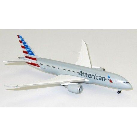 Nuevo Boeing 787-8 AmericanAirlines a escala 1:500 de herpa. mas informaicon: http://www.maqualas.cl/en/1500-airplanes/282-boeing-787-8-american-airlines.html