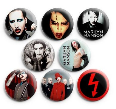 Vintage Marilyn Manson Pinback Buttons
