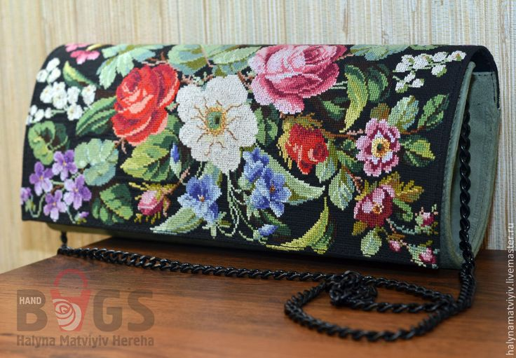 """Купить Клатч """"Очаровательное ретро"""" - цветочный, клатч, клатч ручной работы, клатч кожаный"""
