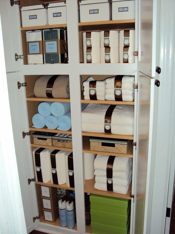 A Very Organized Linen Closet