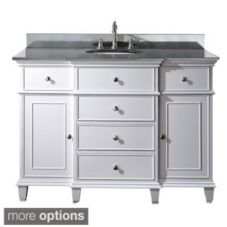 Image Gallery Website Avanity Windsor inch Single Vanity in White Finish with Sink and Top Galala Beige Marble Top