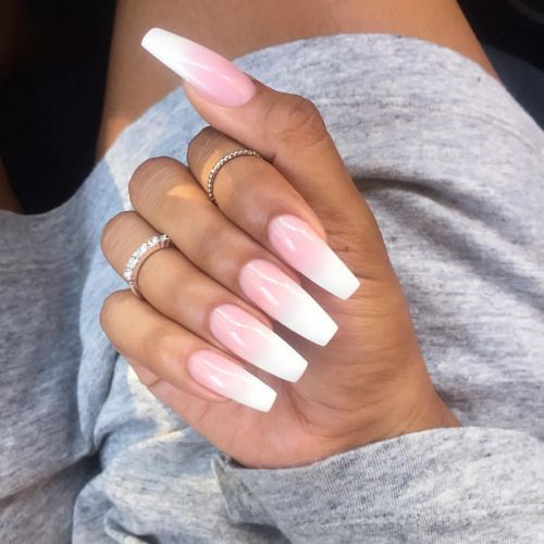 Best Ideas About Ombre Nails Art Design - Lucky Bella - Best 25+ White Coffin Nails Ideas Only On Pinterest Prom Nails