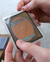 Make nerdy coasters with Magic: the Gathering cards | Offbeat Home