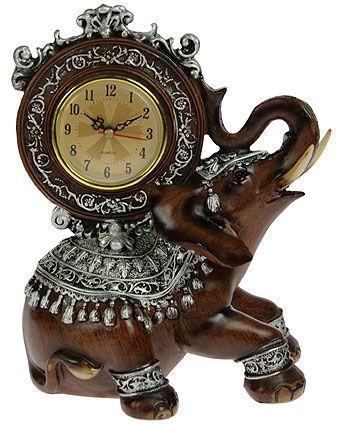 """Часы настольные """"Африканский слон"""" 18*15*22см на Маркете VSE42.RU"""