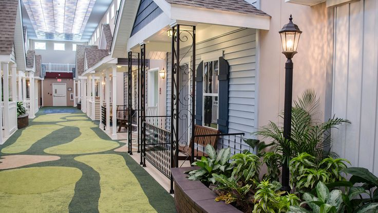 This assisted living center has a great reason for its unique resort-like design.